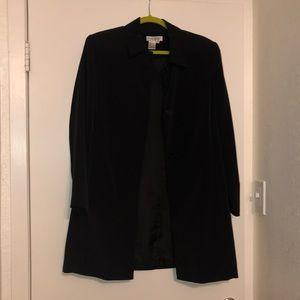 newport news black dress coat, size 12